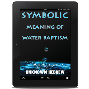 symbolic meaning of water batism